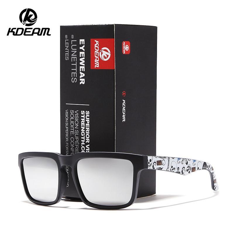 Sonnenbrille der Männer KDEAM Marke Fashion Square polarisierte Sonnenbrille Männer klassischer Entwurf Spiegel Sunglass mit Marken-Box 2501