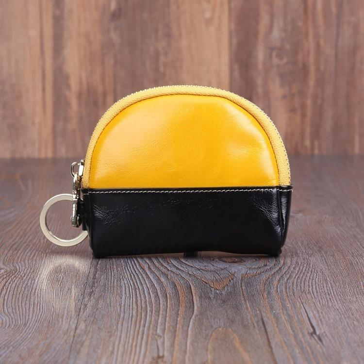 Gorgeous2019 Layer Head Wax Cowhide Ma'am Genuine Leather Small Change Zero Purse Coin Key Package Tw2302.