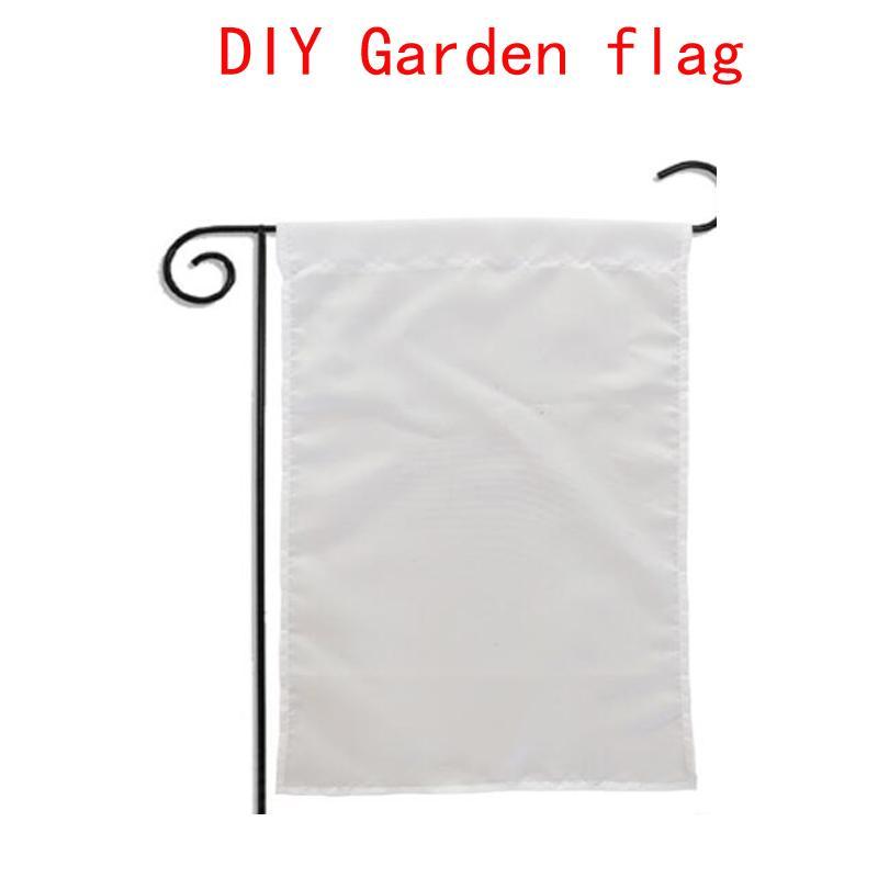 sublimation Blank Jardin Drapeau Drapeaux Jardin Amérique chauffent l'impression tranfert Jardin bannière bannières blanc taille 30 * 45cm