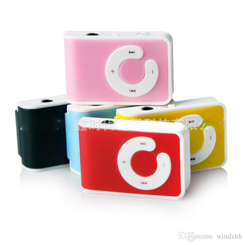 Christmas Gift New Mini Clip USB Mp3 Player C Shape with Card Slot Support Micro SD TF Card Without Retail Box 2 Model Style