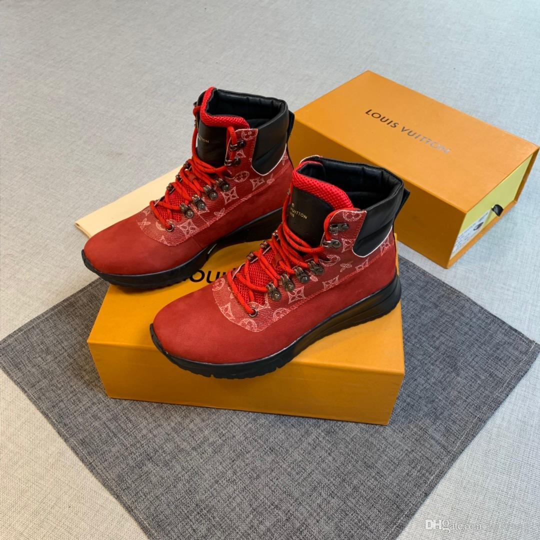 2020 New Herren Schuhe Bequeme Top Luxusmode-Schuhe Lace-up Sport im Freien beiläufige Marken-Mann-Schuhe Größe Gehen 38-45