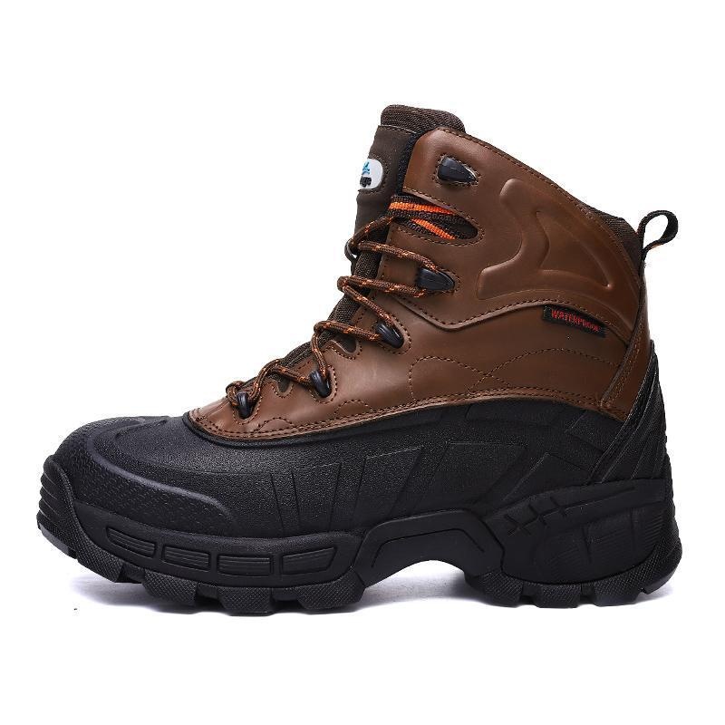 High Quality Mens Steel Toe Work Safety Shoes Lightweight Breathable Anti-Smashing Anti-Puncture Anti-Static Protective Boots 8#22/20D50