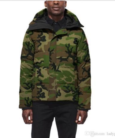 новая КанадаГусьМужчины Зима Вниз ветровки Hoodie Black Navy Серый пиджак пальто зимы Parka Fur продажа с бесплатной доставкой Outlet1d07 #