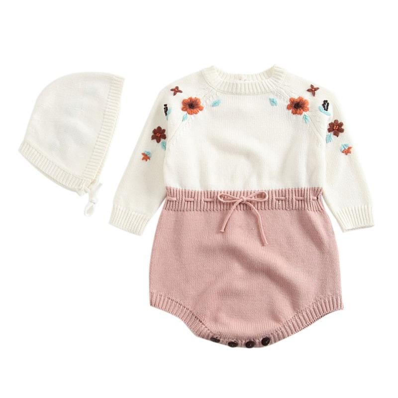 Bambina neonato neonato Tuta Baby Romper Spring Winter Warm Wary Maglione a maniche lunghe Manica Pagliaccetto Baby Girl