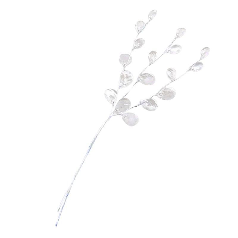 10 Ad Kristal Bud Dallar Yapay Çiçek Twigs İçin Düğün Ev Kar Dekorasyon DIY Dekoratif El Sanatları Sahte Çiçekler (Wh Diğer Şenlikli