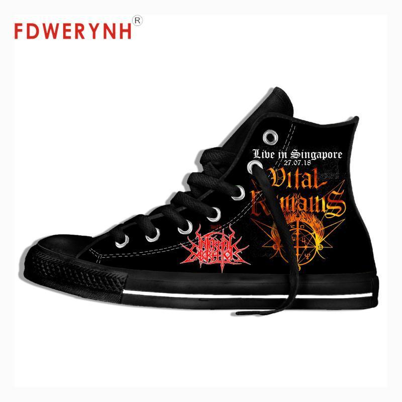 Hombres que recorren Zapatos Zapatos Vital Remains Negro banda de metal Música manera fresca calle transpirable lona clásica