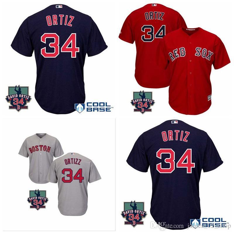 hot sale online e97bc 9954c 2019 2016 Men'S BostonRedSox Roger Clemens David Ortiz Retirement Patch  Jerseys 34 David Ortiz Baseball Jersey Shirts From James_02_shop, $22.33 |  ...