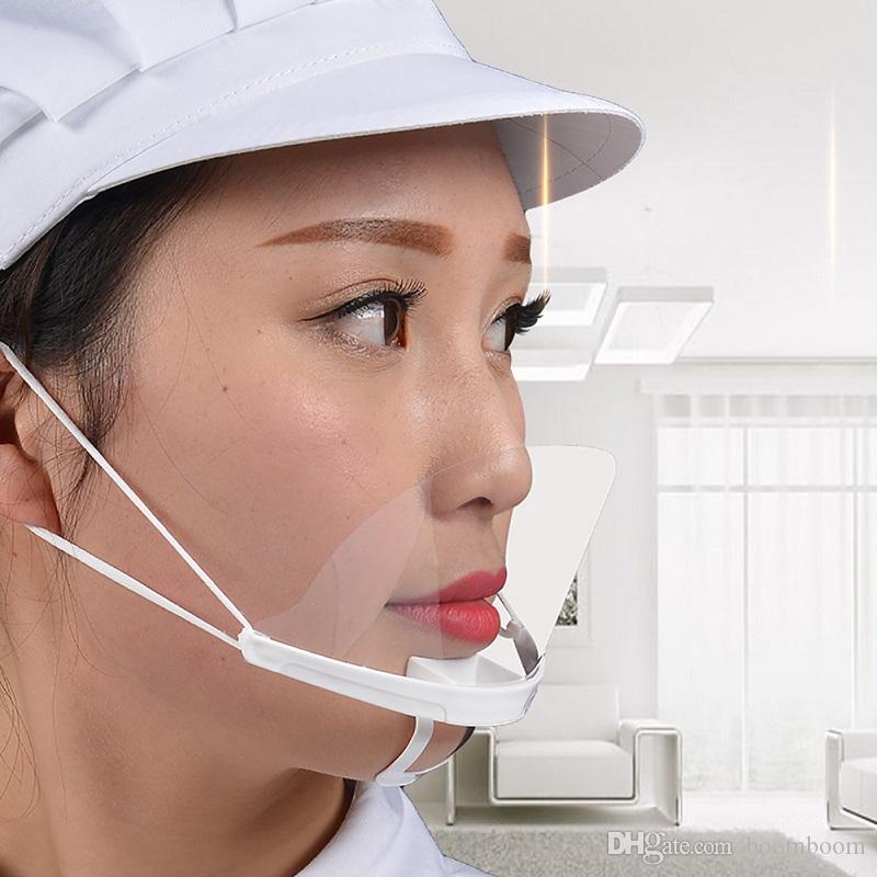 100pcs التي بلاستيك شفاف الصحية المفتوحة قناع للبشرة العناية الغذائية شاحنة ماكياج الأسنان المضادة للنشر قناع الوجه العمل واقية