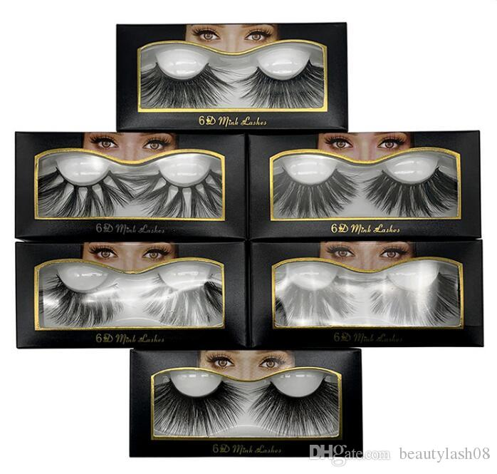 6D New 25mm Mink Eyelashes Handmade Natural 3D Fake Lashes Ins Long Imported maquiagem False Eyelashes extension cilios