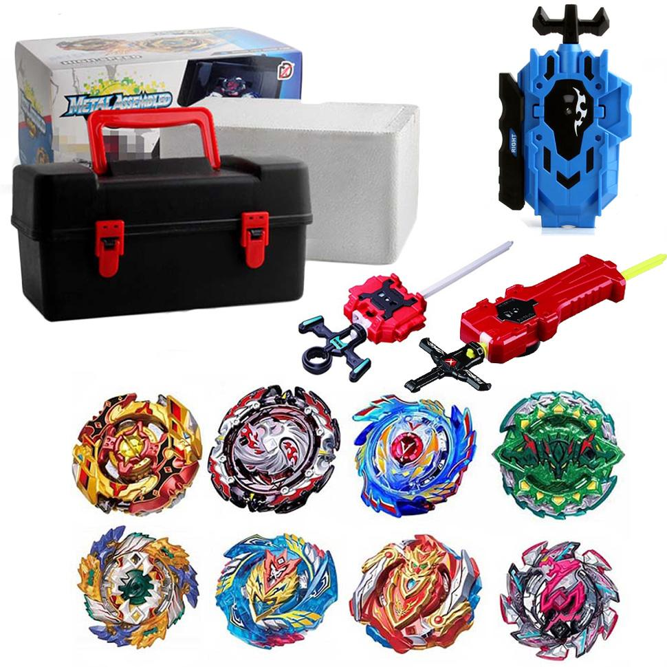 Tops Set Launchers Beyblade Toys Toupie Metal God Burst Spinning Top Bey Blade Blades Toy bay blade bables T191019