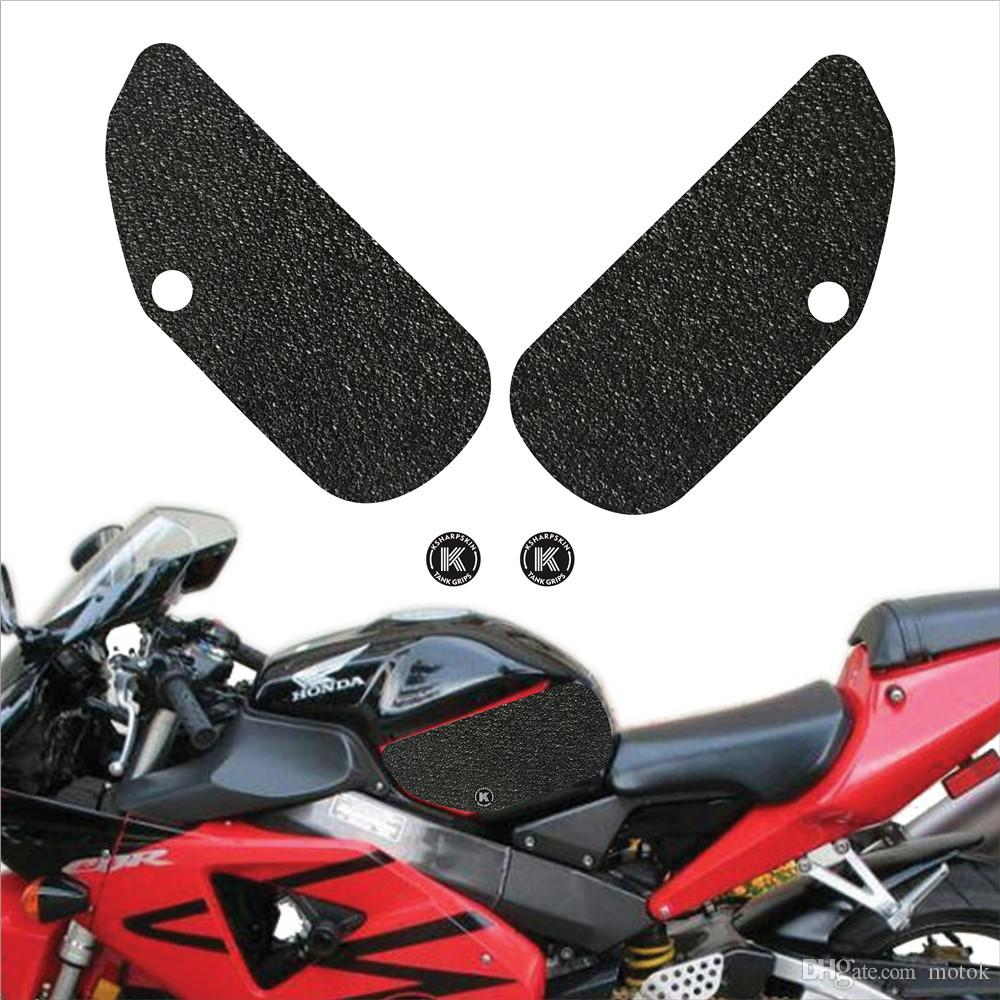 Motorcycle Fuel Tank Pads Universal Motorbike Side Gas Knee Grip Protective Non-slip Rubber Decals Sticker
