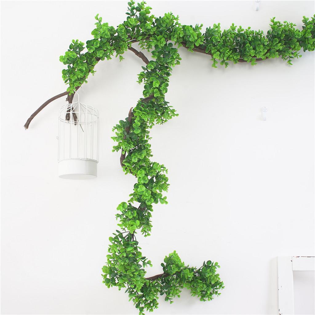 190cm 인공 유칼리 나무 덩굴 화환 녹지 웨딩 배경막 벽 예술