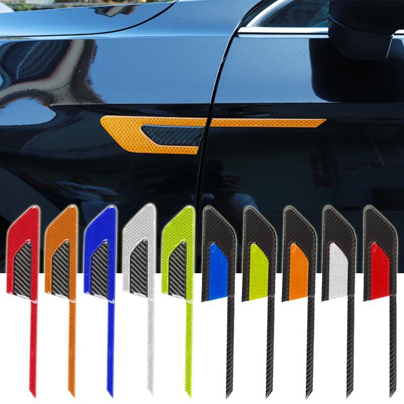 Etiquetas engomadas del umbral de la puerta del coche deportivo para la etiqueta engomada de la fibra de carbono del coche Qashqai 4Pcs Set Umbrales de la puerta Calcoman/ías protectoras Accesorios