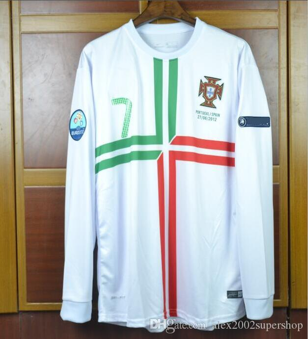 2021 Portugal Home Away Long Sleeve Retro Soccer Jersey 2010 2011 ...