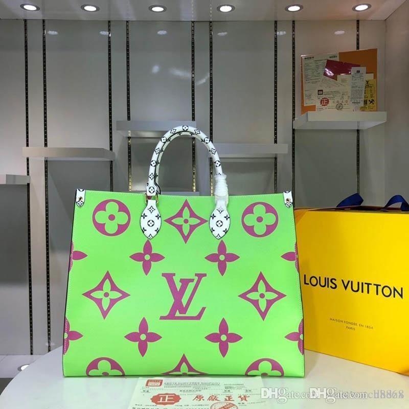Para mulheres de grande capacidade saco de compras de luxo Bolsas Bolsas Mulheres Designer Handbag coloridos Luxury Handbag 44571 S