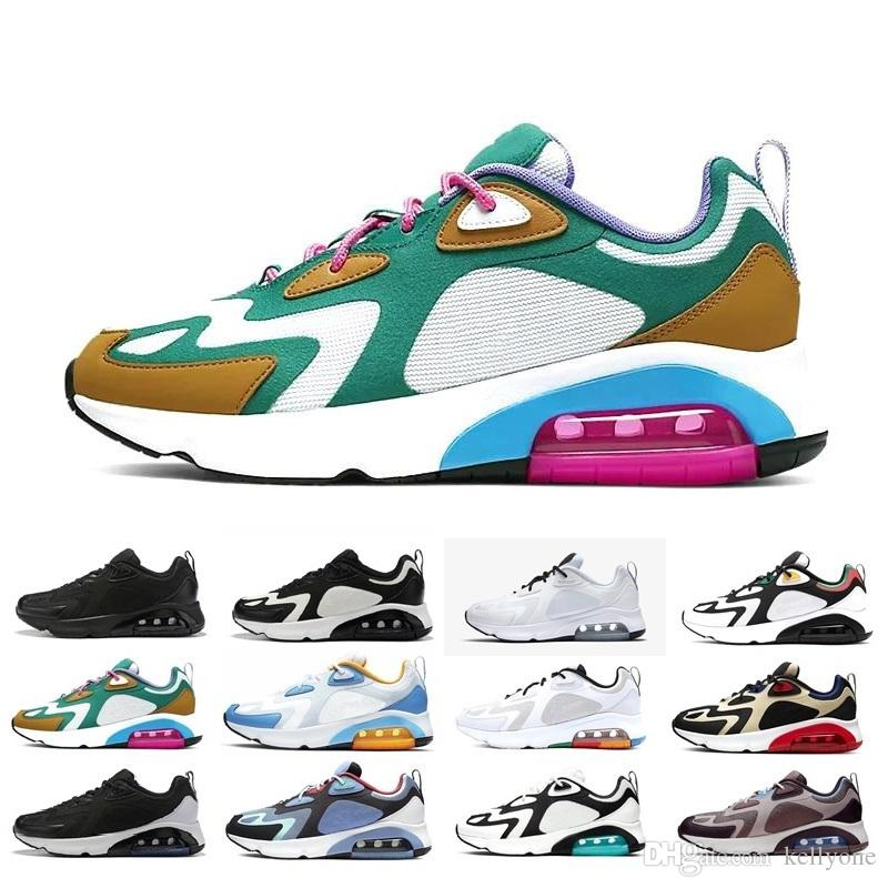 Compre Nike Air Max 200 Zapatillas De Running Baratas Para Hombre Mujer  Plata Japan Oro Bullet Triple Blanco Negro Zapatillas De Deporte 97 Para ...