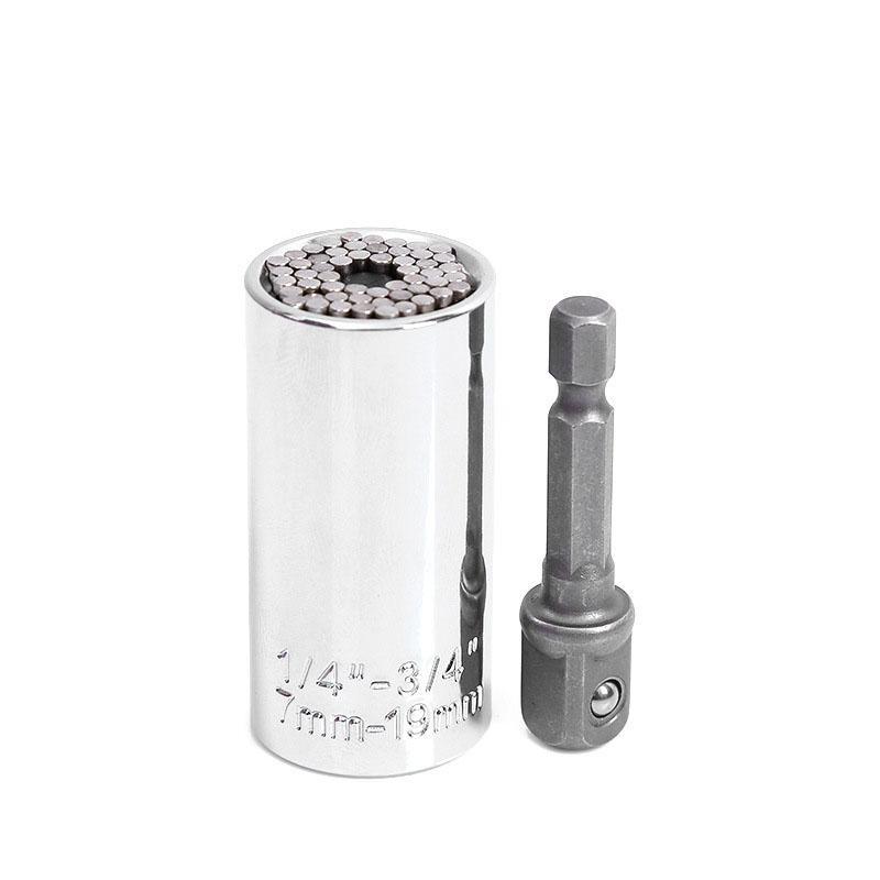 Hot Torque Wrench Head Set Socket manica 7-19mm Power Drill Strumenti Ratchet Boccola Chiave chiave Gator Multi mano Dropshipping