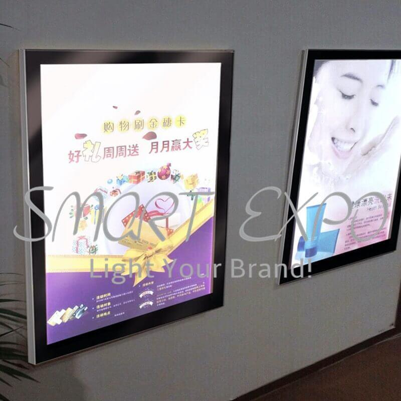 Led Magnetic Movie Photo Frame Light Box Movie Poster Promotion Advertising Slim Light Box with Wooden Case Packing (50*70cm)