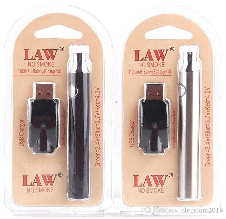 가전 전자 담배 배터리 제품 세부 정보 법 예열 VV 배터리 충전기 키트 650분의 350 / 1100mAh E 담배 Vape