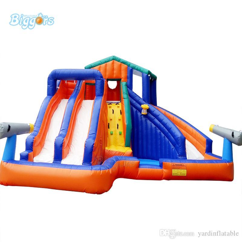 Sıcak Satış Şişme Su Slaytlar Komik Oyunlar Havuz Combo Slide