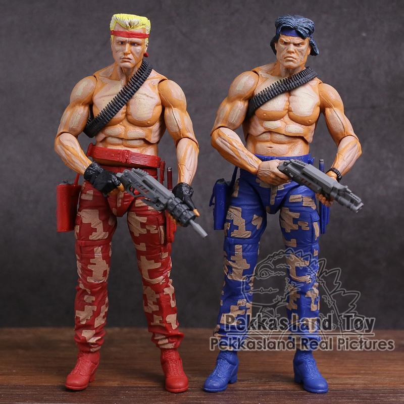 NECA CONTRA Bill & Lance PVC Action Figure Collectible Model Toy 2-pack Free Shipping