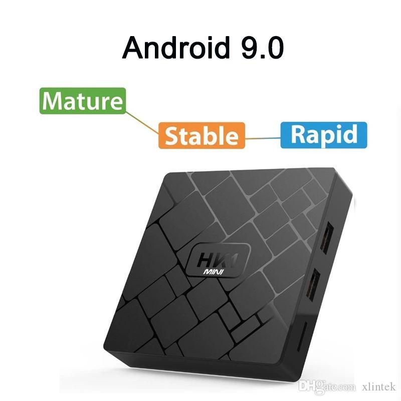 HK1 MINI Android 9,0 Smart TV коробка 2GB 16GB RK3229 четырехъядерный телеприставку H.265 4k HD медиа-плеер