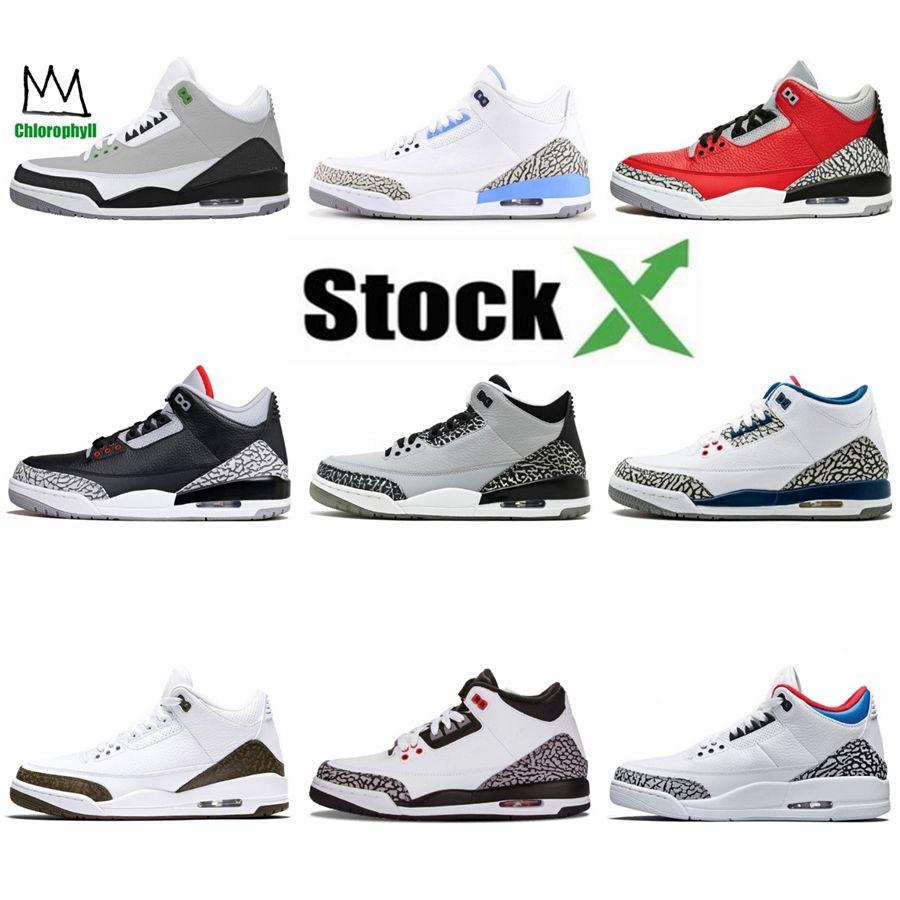 2020 New Bred Blanc Ciment 3 3S Jack Cool Gray Hommes Chaussures de basket-3S Metallic Silver Chaussures de sport Designer Chaussures de sport Formateurs bleu # 779
