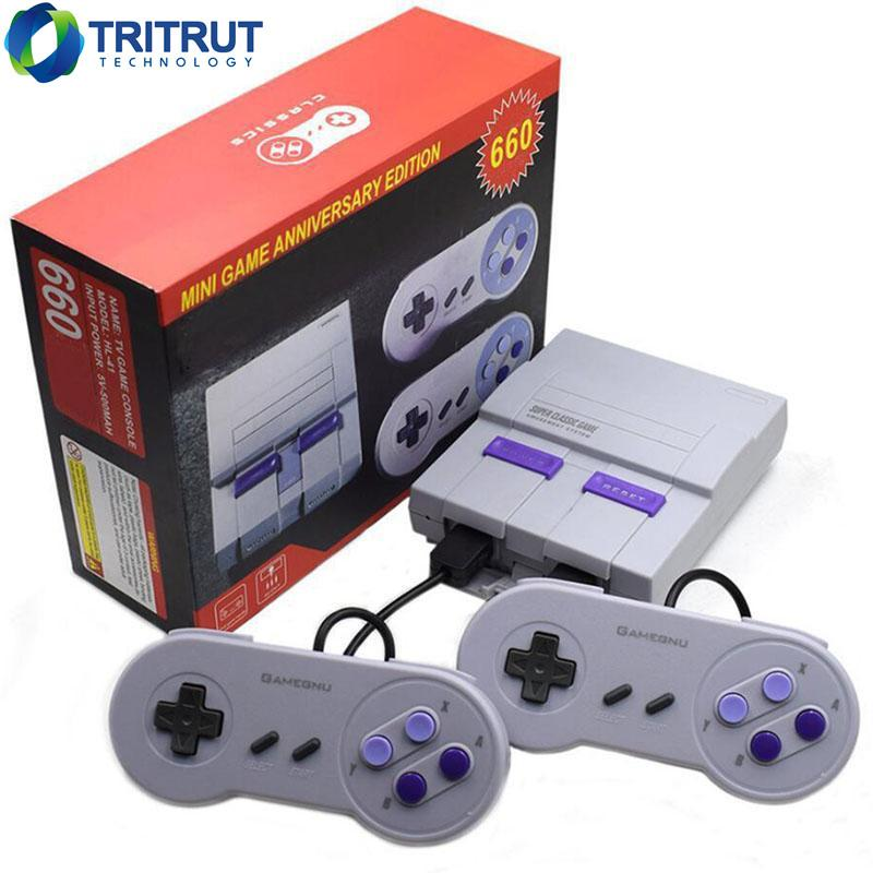 Super Classic Game SFC TV Candheld Mini Video Game Console Controller Новейшая развлекательная система для SFC 660 NES SNES Games AV AV.