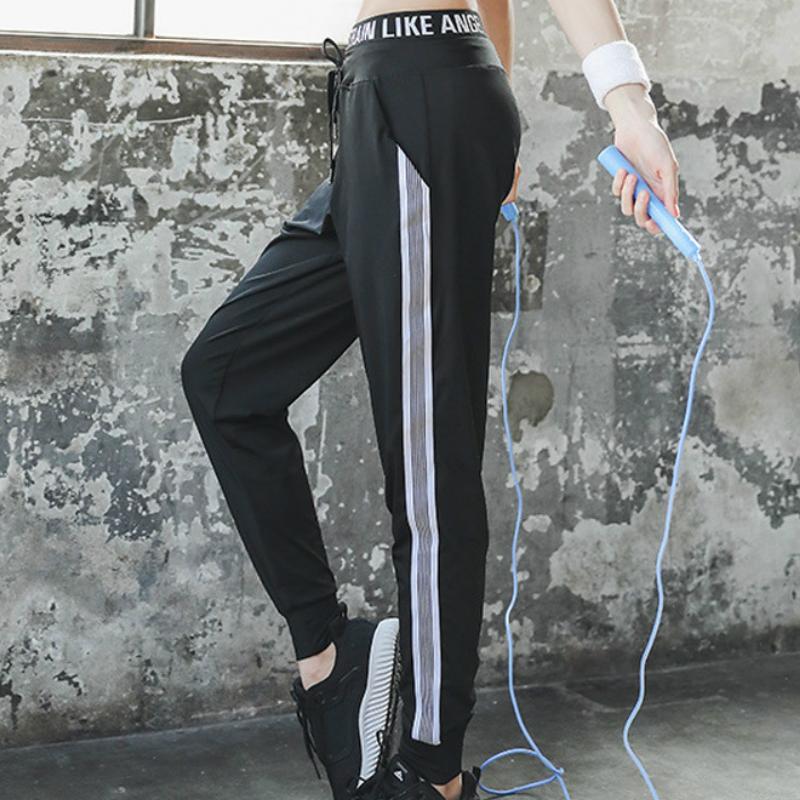 Yoga-Gymnastik Frauen-Sport-Hosen-Yoga-Wear mit hohen Taille Fitness-Sport-Hosen Frauen Kordelzug Sport beiläufiger lose Fitness Lauf