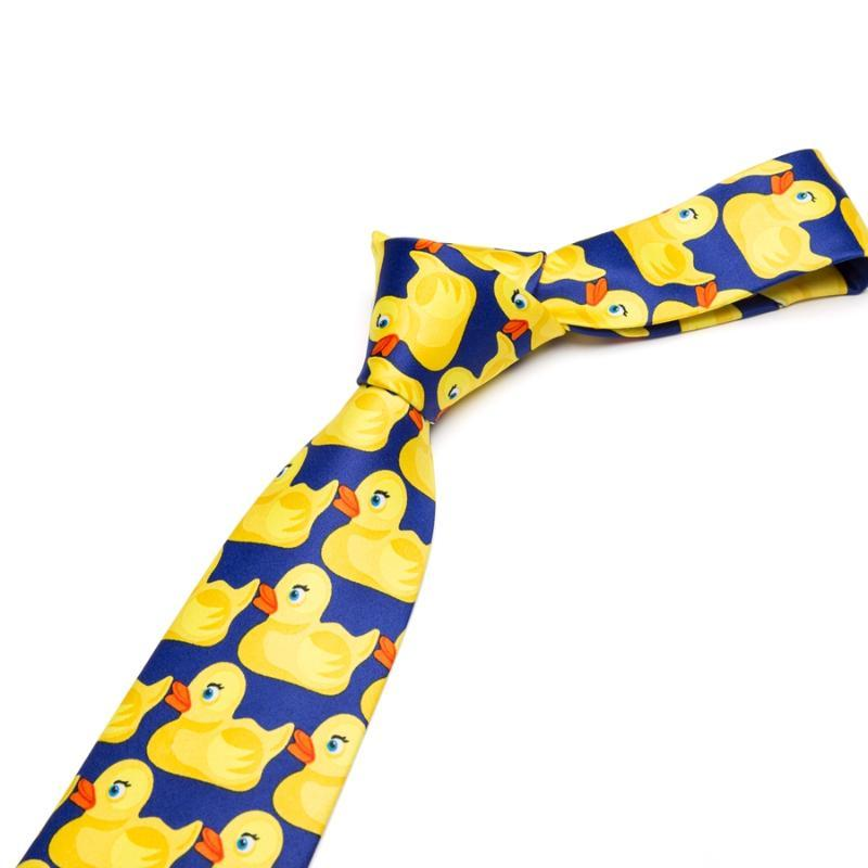 Moda Uomo Gomma Yellow Duck cravatta 8CM Larghezza Bowtie casuale classico partito Cravatte per la Mens regalo Tie