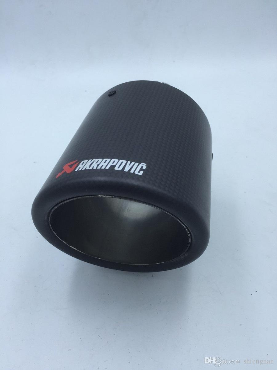 inlet54mm-outlet89mm único inteligente para fibra de carbono AK ponta de escape silenciador tubo de escape