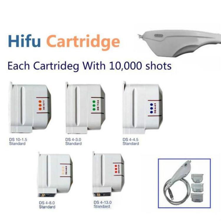 2020 Hot Vente HIFU cartouches échangeables HIFU corps du visage Cartouche Transducteur pour la livraison machine visage HIFU Ultrason gratuit