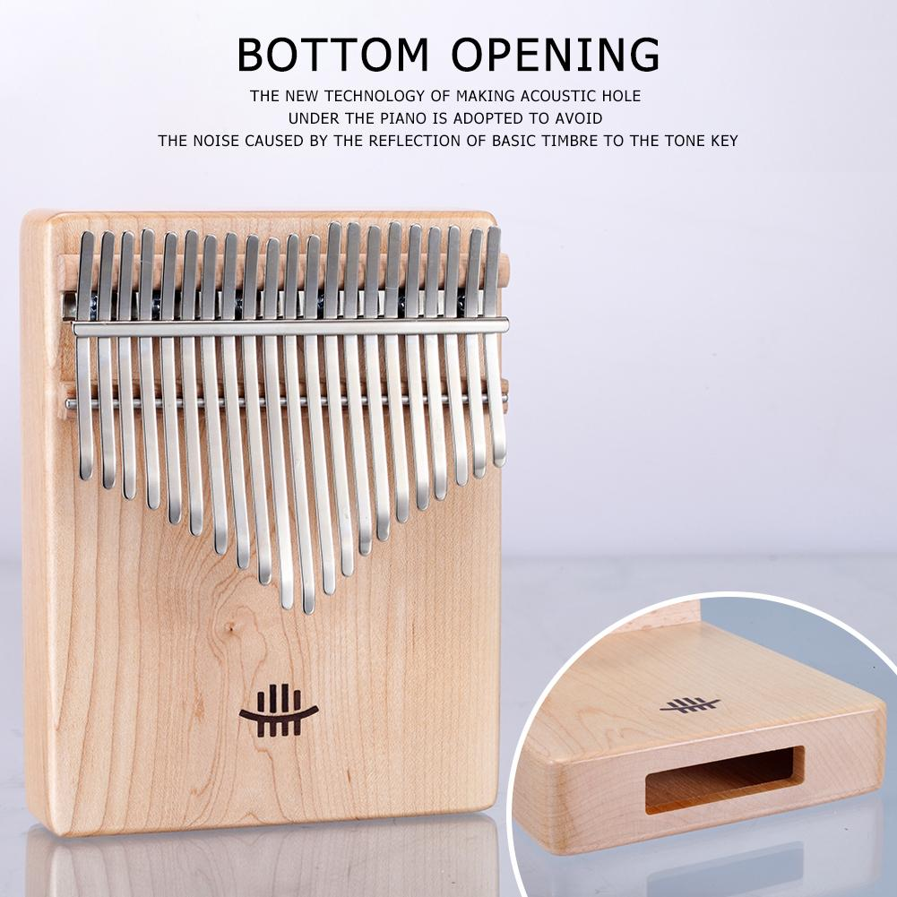 21 Chaves Thumb Piano Mahogany bordo Walnut Acacia com ajuste Martelo escala musical etiqueta saco de pano Musical Instrument
