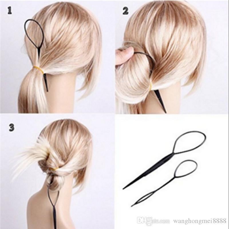 2pcs dei capelli della treccia di modo Coda di cavallo Accessorio per capelli Semplice Magic Hair Styling Twist plastica Acconciatura treccia Trucchi Accessori Strumento