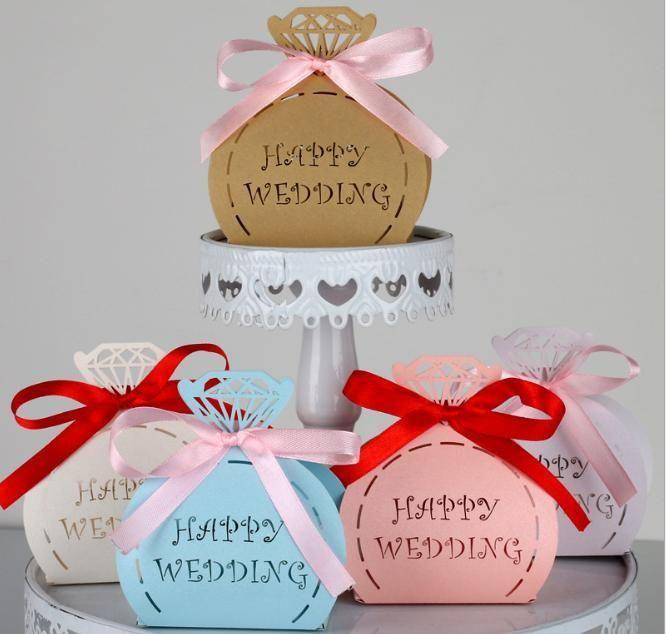 Favores de boda Cajas de regalo Caja de cinta Favoritos Favoritos Favoritos Favoritos Diamante Boda Candy Cake Caja Hollow Cajas Bolsas con caramelo de chocolate CAN GGTTW