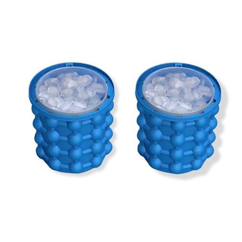 The Revolutionary Space Saving Ice Cube Maker Kitchen Tool Ice Buckets Silicone Irlde Ice Genie Hot Sale with retail box