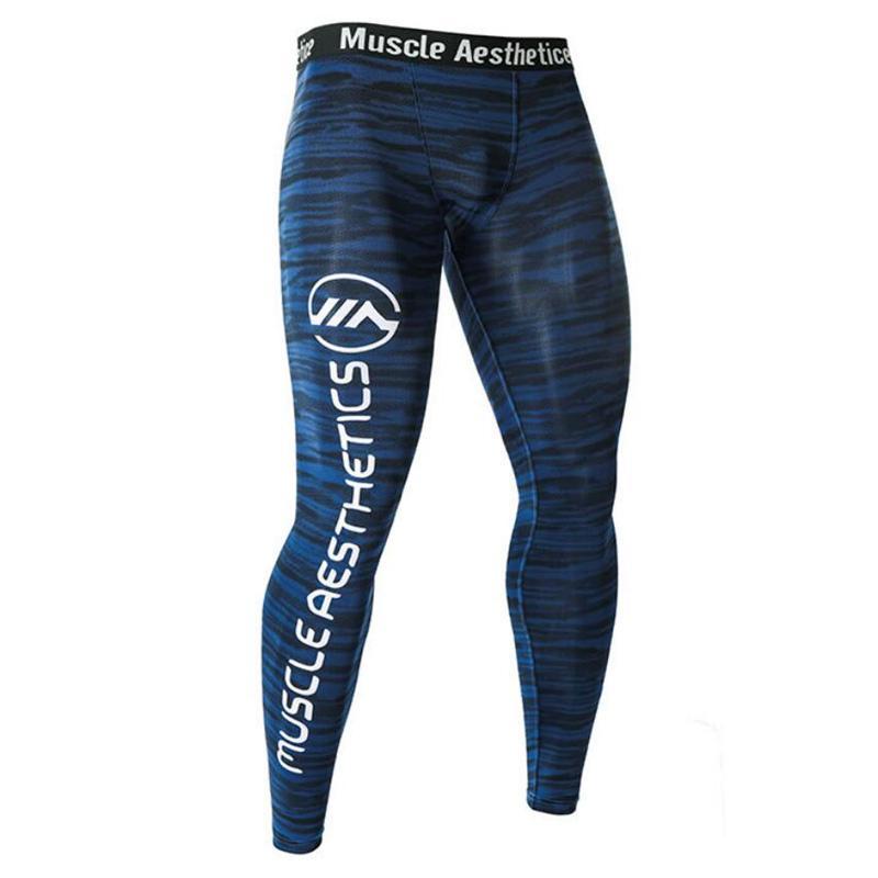 Les pantalons de musculation nouveaux homme mince leggings séchage rapide des hommes de compression d'entraînement physique joggeurs mâle CrossFit pantalons bas