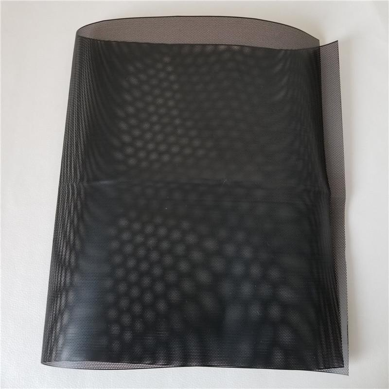 PVC Chassis Computer Filter Cover Computer Case Mesh Net Dustproof for PC DIY Black 50x30cm