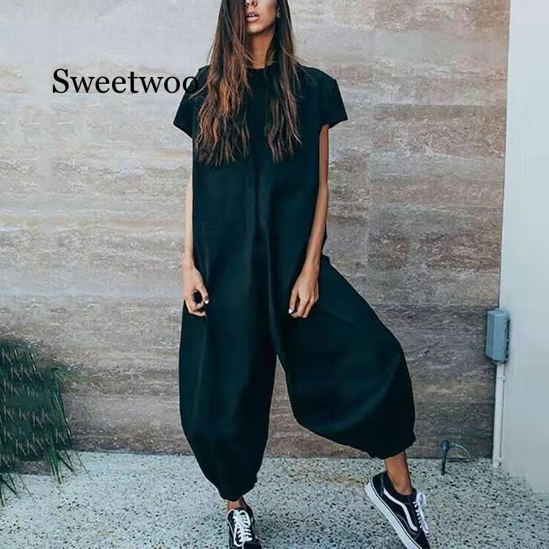 Jumpsuit Overalls for Women Long Jumpsuits Ladies Elegant Long Pants Playsuit 2020 New Plus Size Rompers Womens Jumpsuit