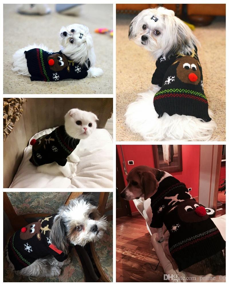 Großhandel Haustier Hund Pullover Für Herbst Winter Warme Stricken Häkeln Dackel Weihnachten Hundemantel Kleidung Für Chihuahua XS XL Von Prime_06,