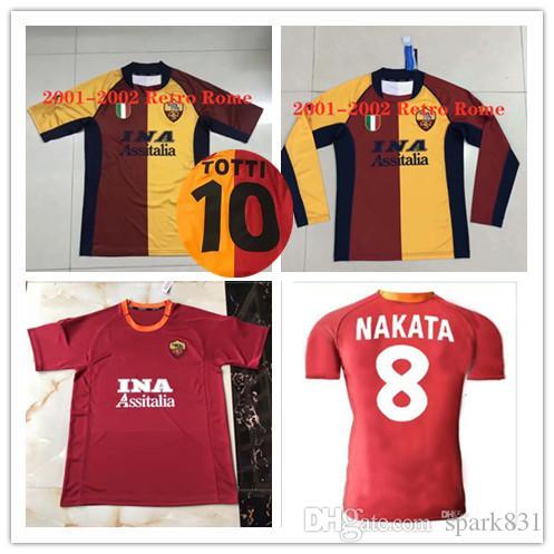 camiseta de fútbol 2000-2001 Roma retro 21 Balbo 18 Batistuta 24 Delvico 9 Montella 20 Poggi 16 DagostinoFootball camisa Camiseta de la vendimia