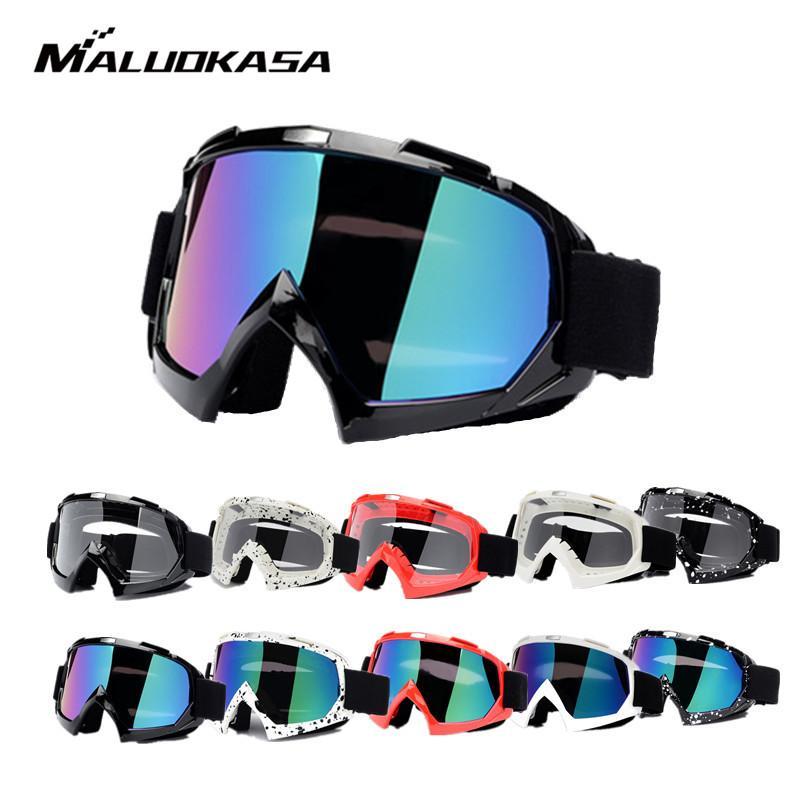 Occhiali protettivi per moto Maschera flessibile per casco Maschera per occhiali da cross Lente ATV Dirt Bike Occhiali UTV per occhiali