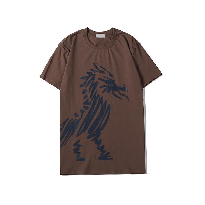 Oturum | Erkek Tasarımcı T Shirt Kadın Marka Kısa Kollu T-shirt Ejderha Baskı Mürettebat Boyun Lüks Yaz Tee Kargo Gömlek S-2XL B105468V