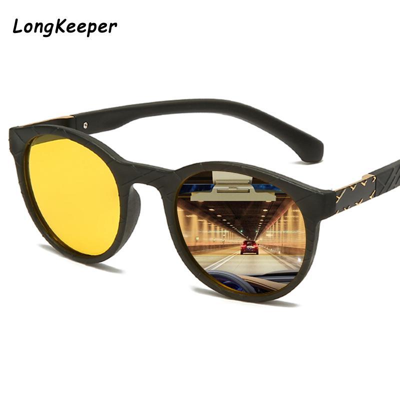 2020 Classic Night Vision Sunglasses Polarized Men Driving Round Yellow Lens Small Sun Glasses Women Night vision Eyewear
