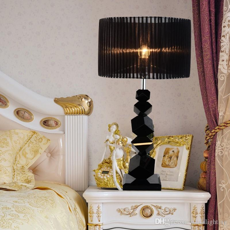 2020 Luxury Table Lamps Bedroom Bedside Black Personality Creative Fashion Simple Modern Warm Romantic Crystal Lamp Table 110 265v From Jindalighting 281 41 Dhgate Com