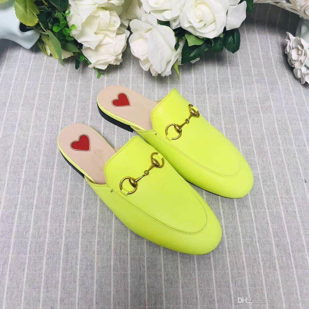 Dermal seule peau de vache authentique Baotou moitié modèles animaux broderie de femme pantoufles fond plat Designer femme en cuir de luxe Chaussures