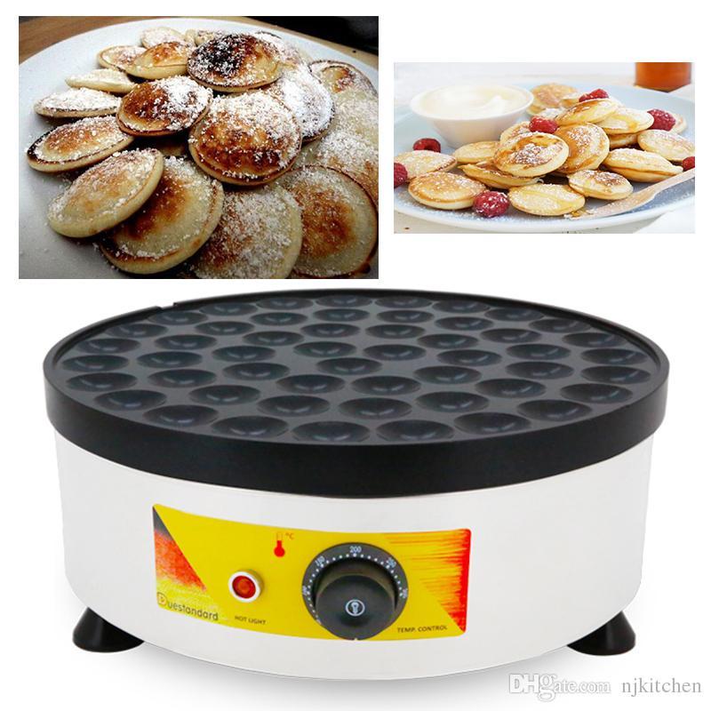 110v 220v Non-bâton Électrique Poffertjes Maker Machine Néerlandais Mini Pancake Grill Fer Bébé Crêpe Plaque De Cuisson Plaque De Gaufre