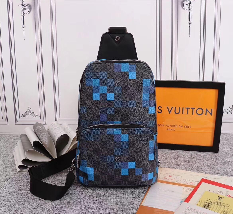 Carta de hombro unisex bolsa de impresión de la moda a prueba de agua de Crossbody del pecho con el interior de la ranura de bolsillo Bolsa de Cintura Mensajero paquete de bolsas de cadera
