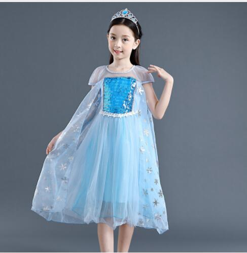 New best selling Halloween snow princess skirt girl's Aisha dress poncho dress girl's children's wear