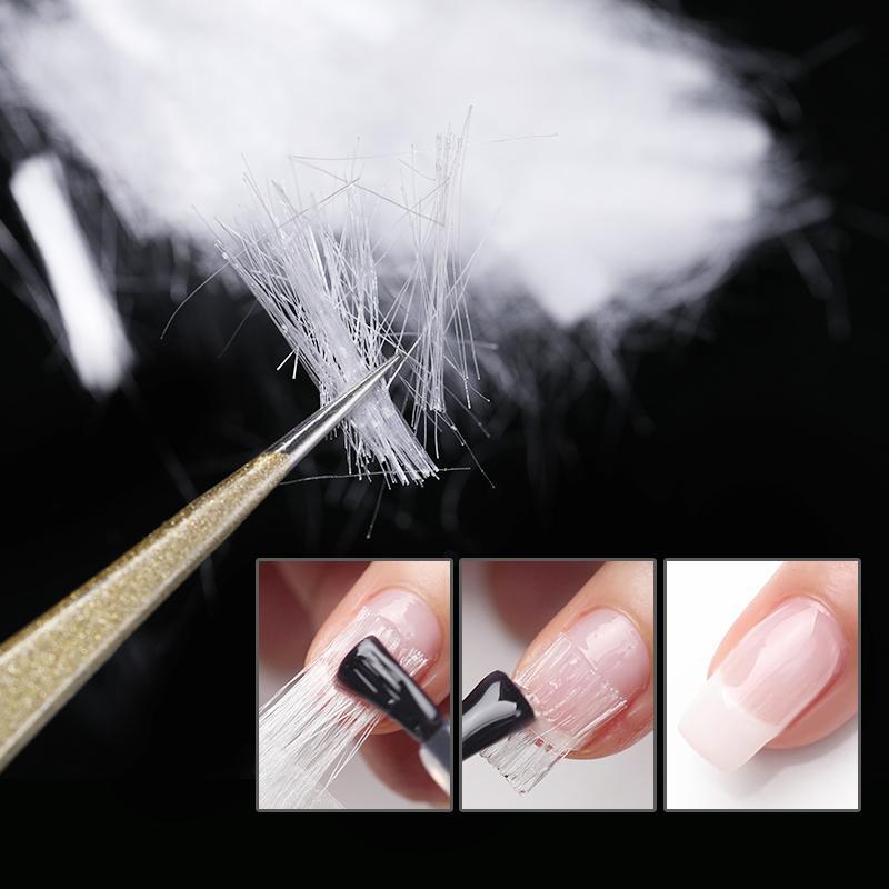 Herramientas de fibra de vidrio Guía de Extensión arte de uñas de plata ajustable reutilizable del gel ULTRAVIOLETA de acrílico Consejos francesa del arte del clavo de extensión rápida